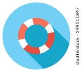 Lifebuoy Flat Icon. Modern...