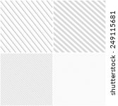 vector striped patterns ... | Shutterstock .eps vector #249115681