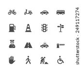 traffic icons | Shutterstock .eps vector #249117274