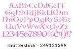 3d violet purple glossy... | Shutterstock . vector #249121399