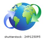 earth with arrows around | Shutterstock .eps vector #249125095