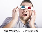man with 3d glasess | Shutterstock . vector #249130885