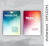 flyer set   abstract... | Shutterstock .eps vector #249132241