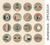 retro stylish best summer... | Shutterstock .eps vector #249133114