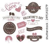 vintage valentine's day sale... | Shutterstock . vector #249141079