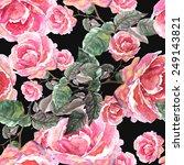 roses seamless pattern | Shutterstock . vector #249143821