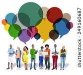 casual people message talking... | Shutterstock . vector #249160687