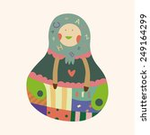 matryoshka   russian... | Shutterstock .eps vector #249164299
