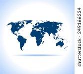world map | Shutterstock .eps vector #249166234