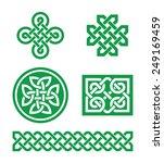 celtic knots  braid green...   Shutterstock .eps vector #249169459
