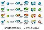 modern cloud company logo set ... | Shutterstock .eps vector #249169861