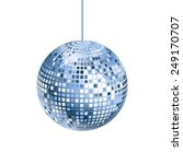 sparkling silver and blue disco ... | Shutterstock .eps vector #249170707