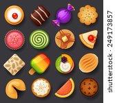 dessert icon set 3 | Shutterstock .eps vector #249173857