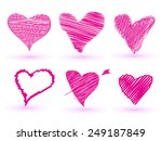 heart shaped concept for love... | Shutterstock .eps vector #249187849