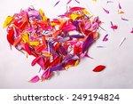 flying red petals  flowers... | Shutterstock . vector #249194824