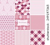 set of cute seamless patterns | Shutterstock .eps vector #249197365