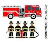 Vector Illustration Fire Truck...