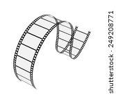 vector film strip  | Shutterstock .eps vector #249208771