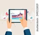 market analysis. flat design. | Shutterstock .eps vector #249211819