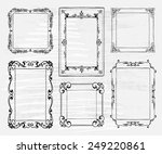 hand drawn doodle frame set.... | Shutterstock .eps vector #249220861