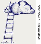 ladder to clouds. competition...   Shutterstock .eps vector #249223027