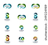 set of infinity and loop... | Shutterstock .eps vector #249224989