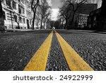 double yellow lines in city... | Shutterstock . vector #24922999