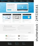 corporate website template ... | Shutterstock .eps vector #249230161