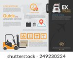 transportation brochure and... | Shutterstock .eps vector #249230224