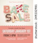 hand drawn type that says bake... | Shutterstock .eps vector #249232981