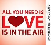 love typographic card in vector ... | Shutterstock .eps vector #249241369