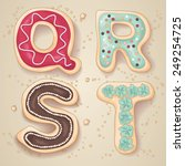 hand drawn letters of the... | Shutterstock .eps vector #249254725