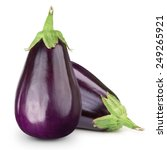 eggplant isolated on white  | Shutterstock . vector #249265921