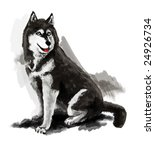 dog on a white background | Shutterstock . vector #24926734
