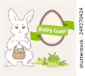 happy easter vector set. white... | Shutterstock .eps vector #249270424