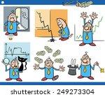cartoon illustration set of... | Shutterstock . vector #249273304