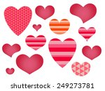 heart set | Shutterstock .eps vector #249273781