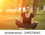 woman practice meditation in... | Shutterstock . vector #249276061