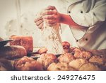 cook hands preparing dough for... | Shutterstock . vector #249276475