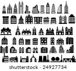various variants of houses on... | Shutterstock .eps vector #24927734