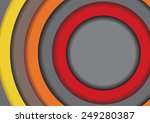 abstract geometrical frame... | Shutterstock . vector #249280387