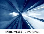 tunnel   moving fast into blue... | Shutterstock . vector #24928343