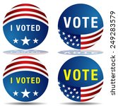 an image of a set of vote... | Shutterstock .eps vector #249283579