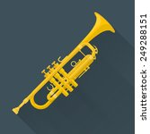 color flat style vector trumpet ... | Shutterstock .eps vector #249288151