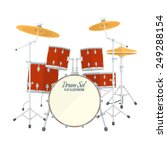 Color Flat Style Vector Drum...