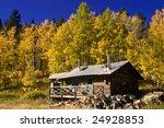 a country cabin in colorado in...   Shutterstock . vector #24928853