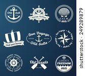 nautical labels set   9... | Shutterstock .eps vector #249289879