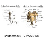 parts of western saddle and... | Shutterstock .eps vector #249293431
