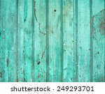 Old Rustic Painted Cracky Gree...