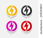 realistic design element ... | Shutterstock . vector #249293857